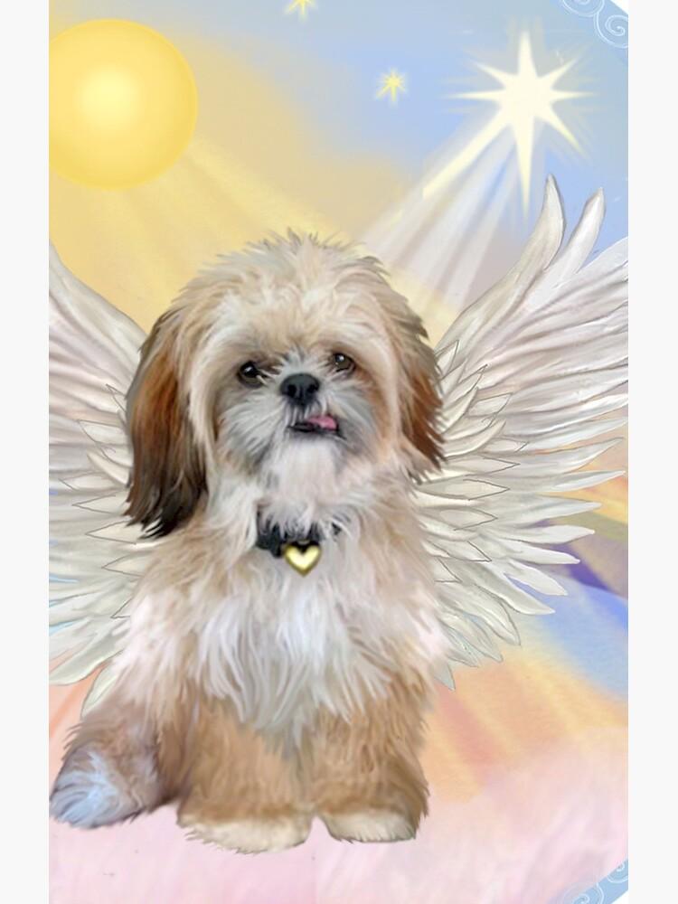 Shih Tzu Angel in Heavens Clouds by JeanBFitzgerald