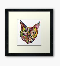 Graphic Kitty Framed Print