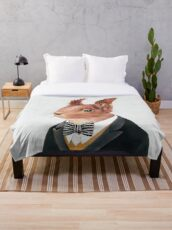 Red Squirrel Throw Blanket