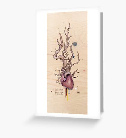 Driftwood Heart 5 Greeting Card
