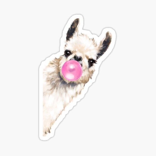 Bubble Gum Sneaky Llama in Blue Sticker
