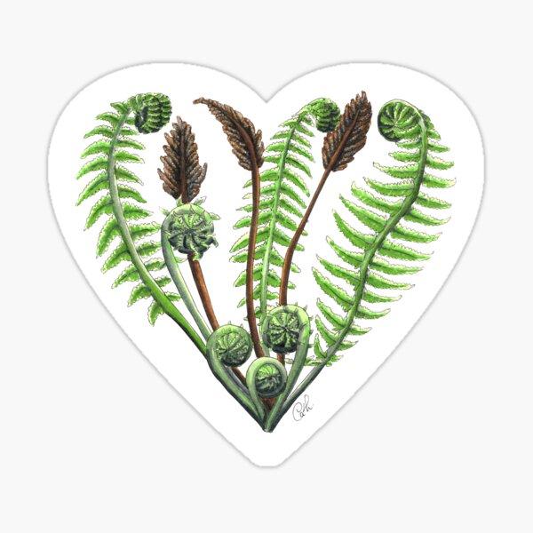 Coeur de fougères Sticker