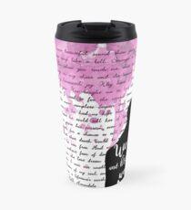 We live and breathe words  Travel Mug