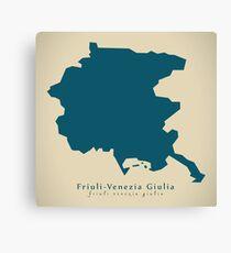 Modern Map - Friuli-Venezia Giulia region Italy Canvas Print