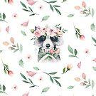 Woodland Raccoon Nursery Decor watercolor by Tuky Waingan