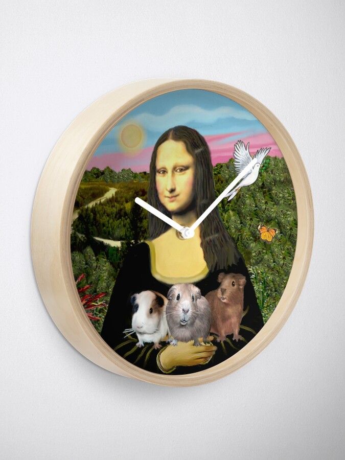 Alternate view of Mona Lisa and her Guinea Pigs Clock