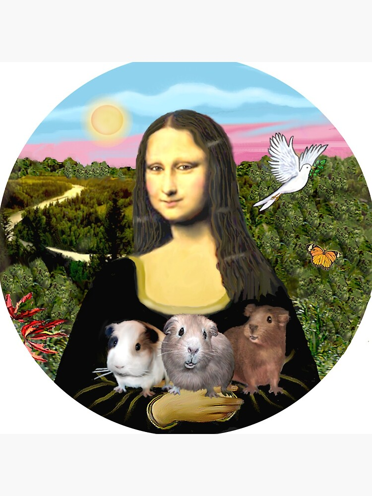 Mona Lisa and her Guinea Pigs by JeanBFitzgerald