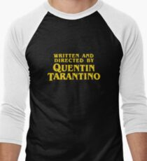 Written and Directed by Quentin Tarantino Men's Baseball ¾ T-Shirt