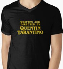 Written and Directed by Quentin Tarantino Men's V-Neck T-Shirt