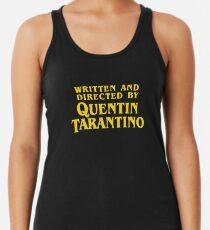 Camiseta con espalda nadadora Escrito y dirigido por Quentin Tarantino