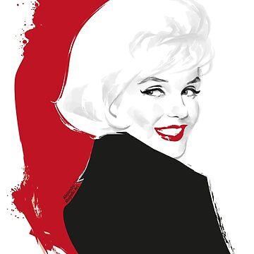 Marilyn Blonde Test von AleMogolloArt