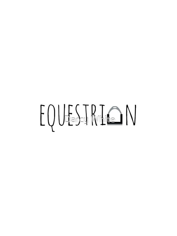 """Equestrian"" Logo with Stirrup  by e-q-u-i-t-a-t-e"