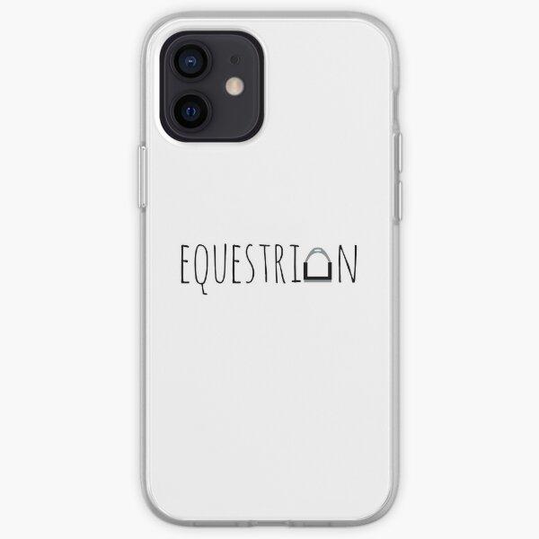"""Equestrian"" Logo with Stirrup  iPhone Soft Case"