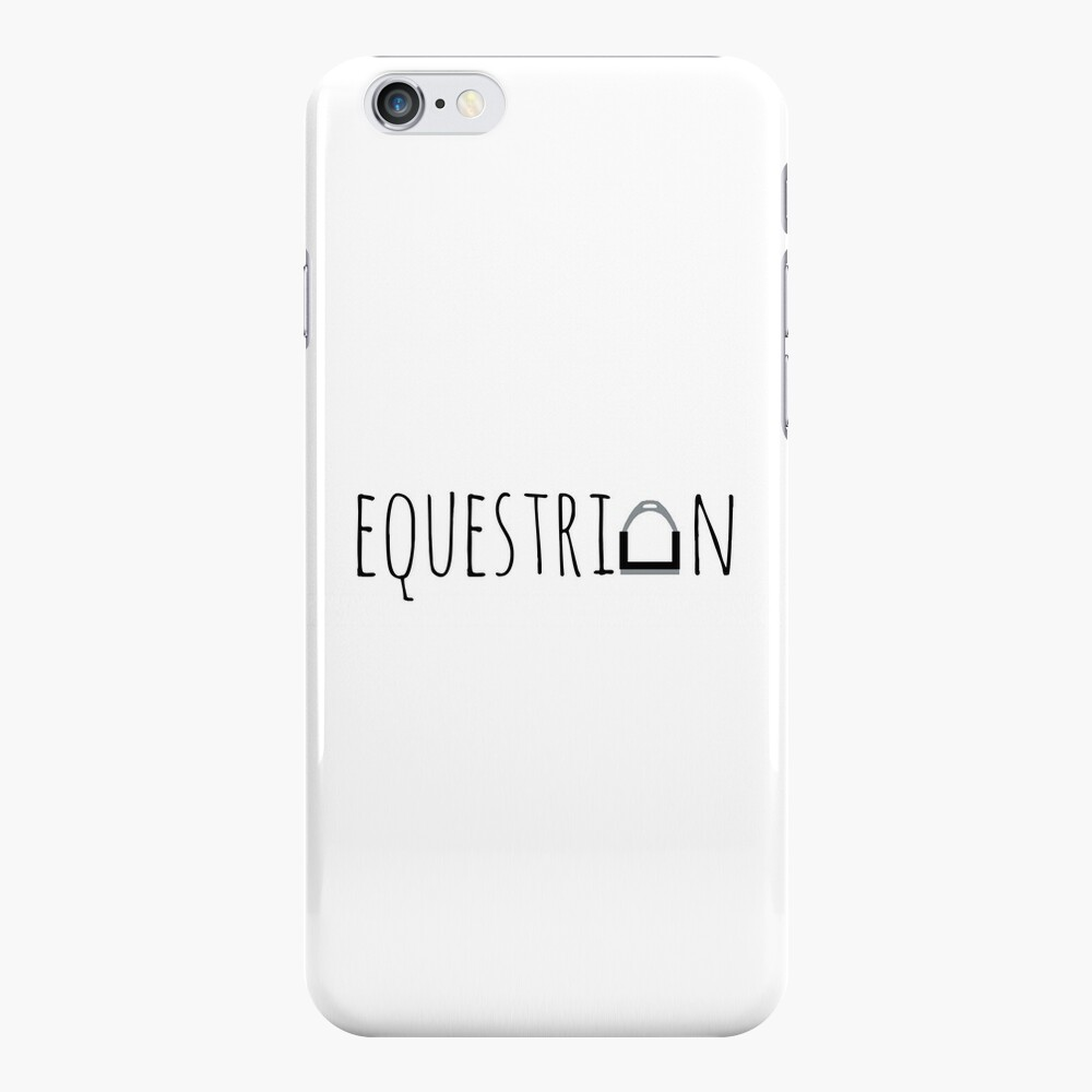 """""""Equestrian"""" Logo with Stirrup  iPhone Case & Cover"""