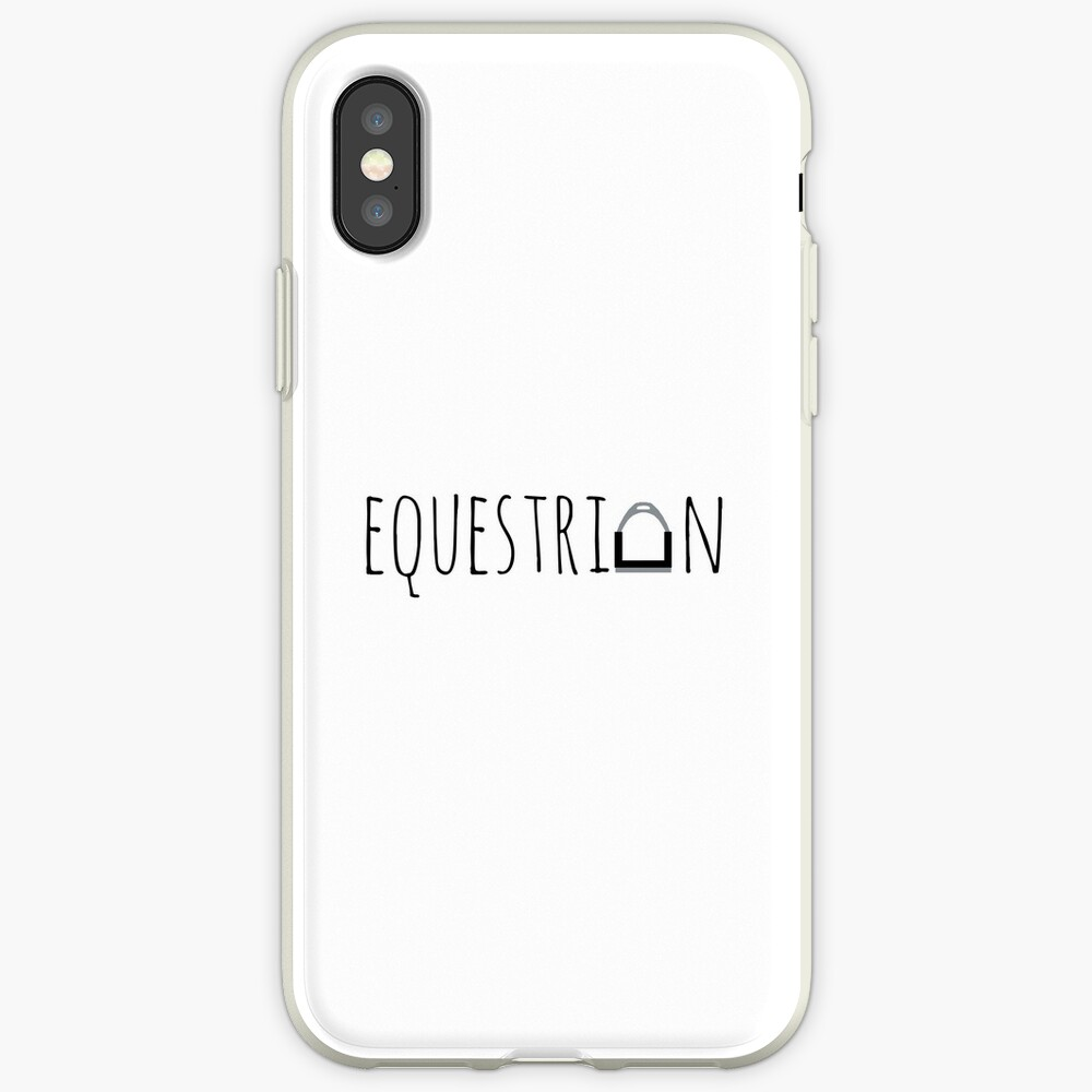 """Equestrian"" -Logo mit Steigbügel iPhone-Hüllen & Cover"