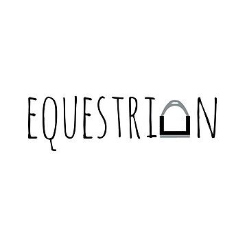 """Equestrian"" Logo with Stirrup  by e-q-u-i-t-a-t-e"