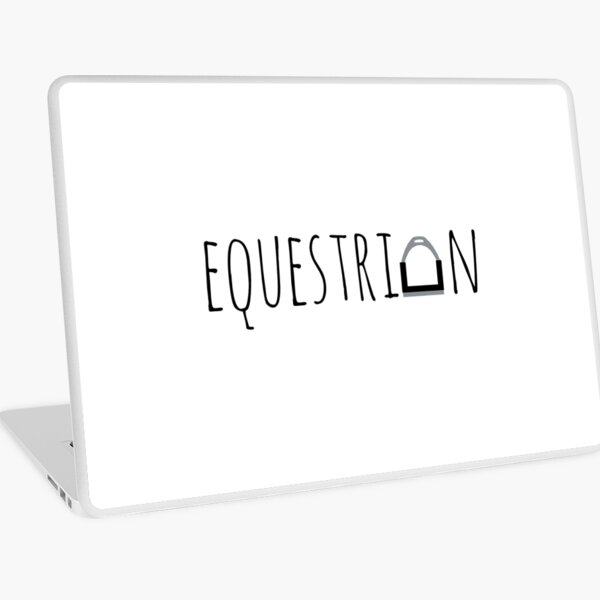 """Equestrian"" Logo with Stirrup  Laptop Skin"