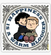 Happiness is a Warm Blogger Sticker