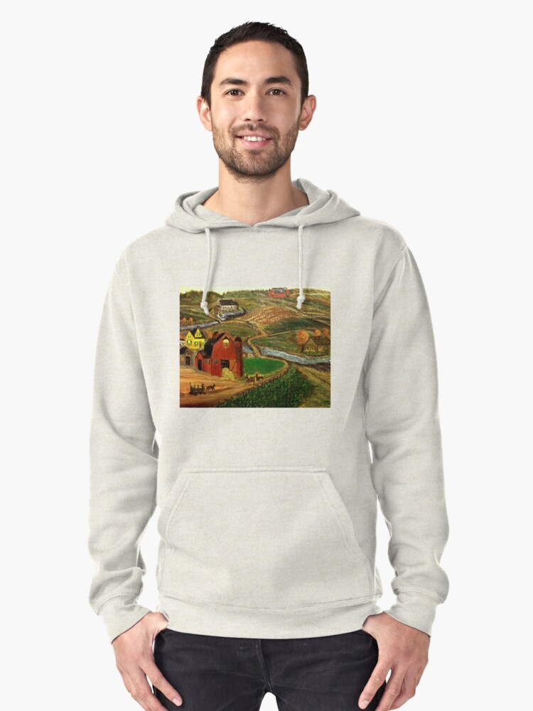 Old Mill Farm Pullover Hoodie Front