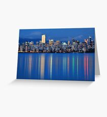 Vancouver city Twilight Greeting Card