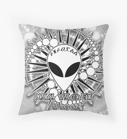 UFO Alien Roswell New Mexico Design 1V Throw Pillow