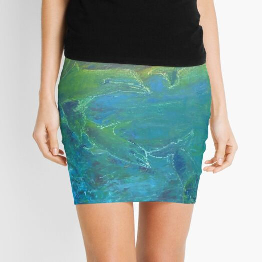 Dolphins at play Mini Skirt