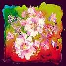 flowers on paint by clemfloral