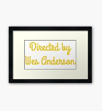 Directed By Wes Anderson (blue and yellow) Framed Print