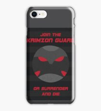 Krimzon Guard Propaganda iPhone Case/Skin