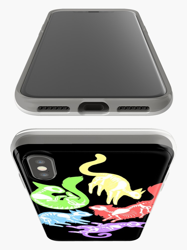 Alternate view of Creepy Kitties in Color iPhone Case & Cover