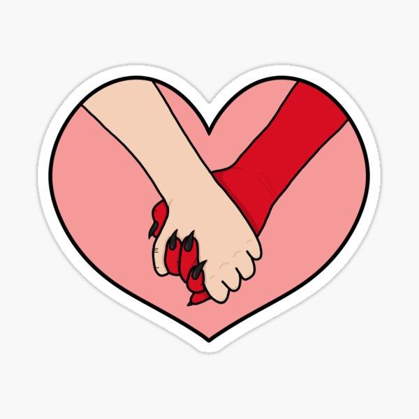 Devil hands Sticker