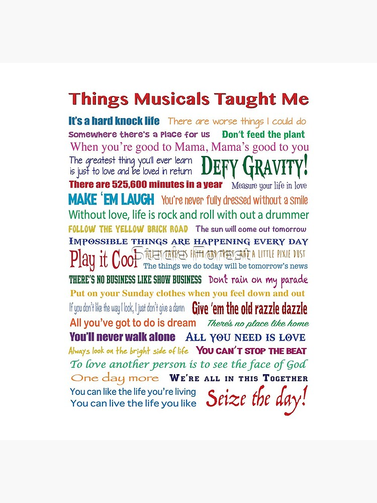 Things Musicals Taught Me by sforest