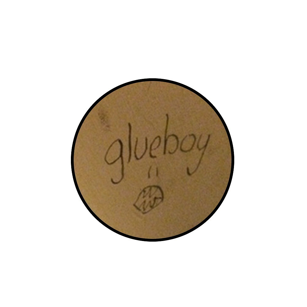 Glueboy album circle sticker by clinkerclangorg