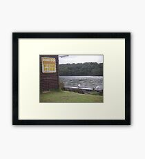 A lazy afternoon on the water Framed Print