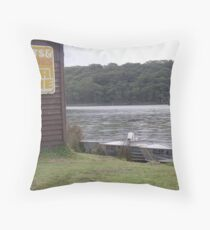 A lazy afternoon on the water Throw Pillow