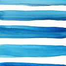 Blue Watercolor Brushstrokes by blueskywhimsy