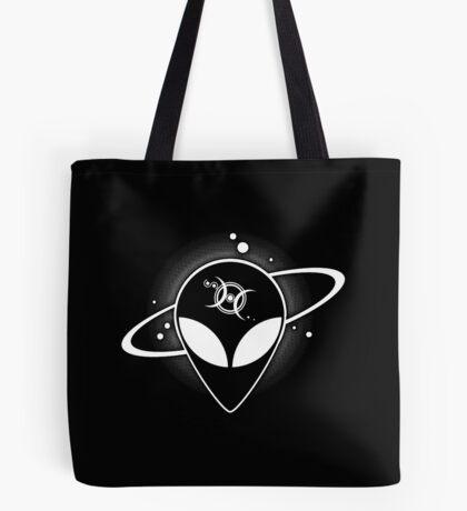 Grey Alien 01 Light on Dark Full Back Tote Bag