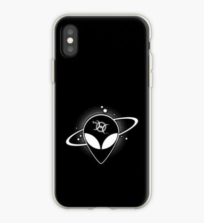 Grey Alien 01 Light on Dark Full Front iPhone Case