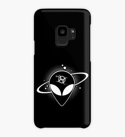 Grey Alien 01 Light on Dark Full Front Case/Skin for Samsung Galaxy