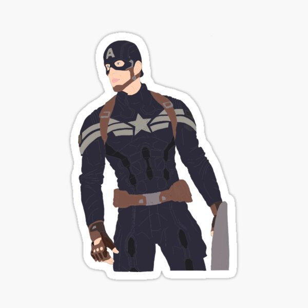 catws steve rogers stealth suit Sticker