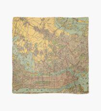 Pañuelo Mapa vintage de la ciudad de Nueva York (1913)