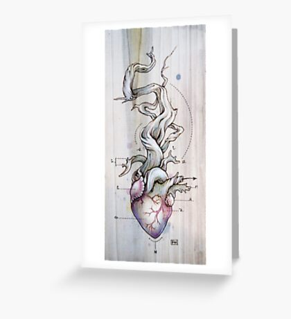 Driftwood Heart 02 Greeting Card