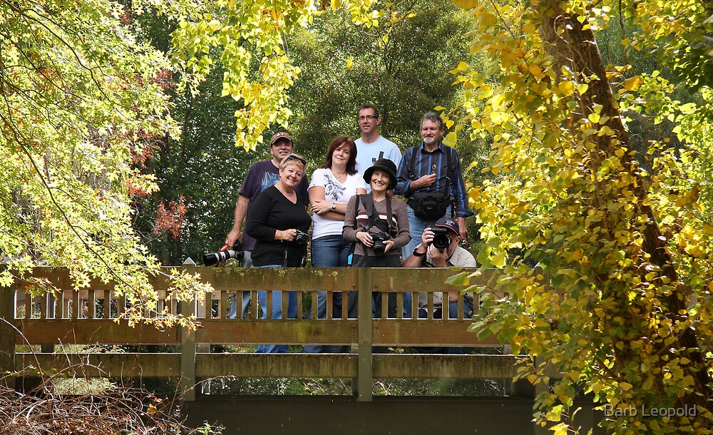 Group on the Bridge by Barb Leopold