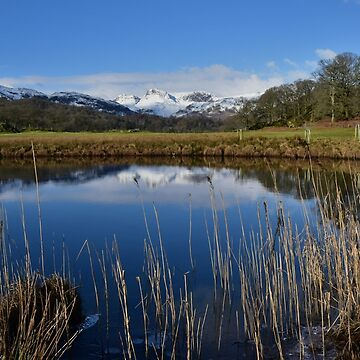 Lake District: The Langdale Pikes from the River Brathay by rob3003