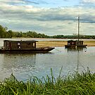 Boats on The Loire by Amanda White