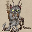 Krampus Kitty (with chains) by justteejay