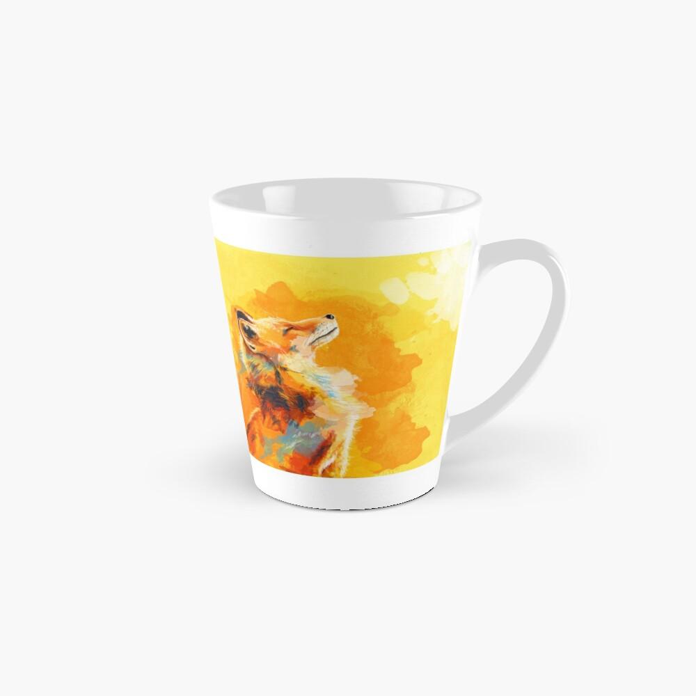 Glückseliges Licht - Fox-Illustration, Tierporträt, inspirierend Tassen