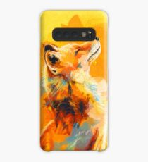 Blissful Light - Fox illustration, animal portrait, inspirational Case/Skin for Samsung Galaxy
