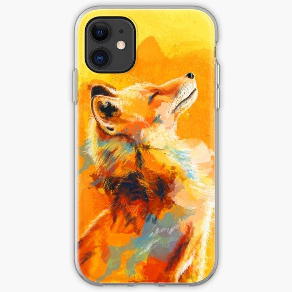 Blissful Light - Fox illustration, animal portrait, inspirational iPhone Soft Case