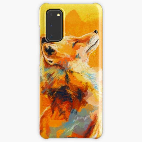 Blissful Light - Fox illustration, animal portrait, inspirational Samsung Galaxy Snap Case